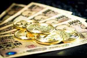 ビットコインと一万円札