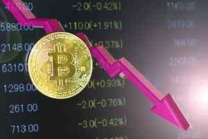 仮想通貨下落
