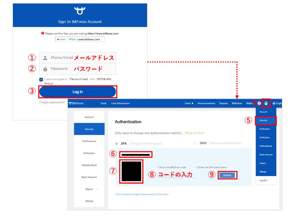 bitforex登録2